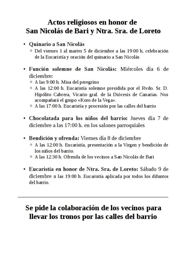 Programa fiestas San Nicolás 2017